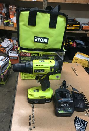 RYOBI 18-Volt ONE+ Lithium-Ion Cordless 1/2 in. Drill/Driver Kit with (1) 1.5 Ah Batterie,Charger, and Bag for Sale in Fontana, CA