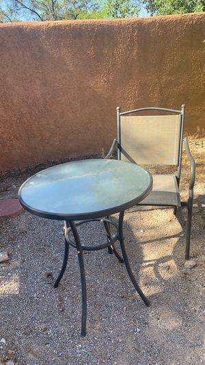 Cute outdoor table with one chair. Need gone ASAP for Sale in Rio Rancho, NM