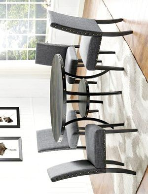 🚚3-6 days delivery🚚NewWallace Gray/Black Round Dining Set for Sale in Jessup, MD