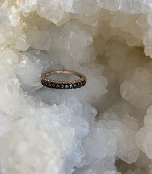 Champagne diamond ring wedding band 14k over sterling silver for Sale in Spanish Springs, NV