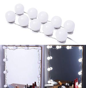 Brand new $20 DIY Vanity Mirror Kit 10pcs Dimmable LED Light Bulb Makeup Dressing Table (USB Connection) for Sale in Whittier, CA