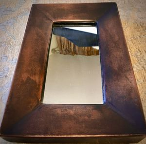 Decorative wall accent, copper framed mirror H9xW6xD2 inch Lbs 1.5 for Sale in Chandler, AZ