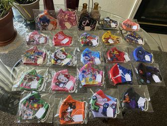 Children's Face Masks 3 Layered Protection, Washable, Comfortable And Breathable for Sale in Elk Grove, CA