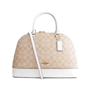 Coach Beige & White Handbag for Sale in Miami, FL