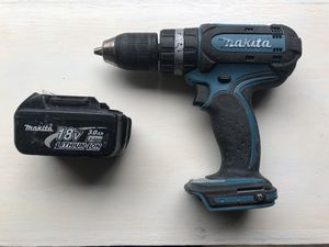Makita 18v hammer drill with 3ah battery $30 for Sale in Kenmore, WA