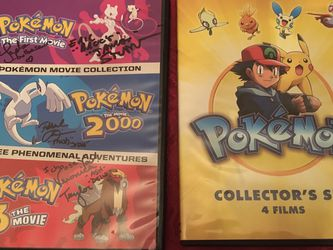 Autographed Pokémon Movie Lot (two DVDS ,7 Movies) for Sale in Cupertino,  CA