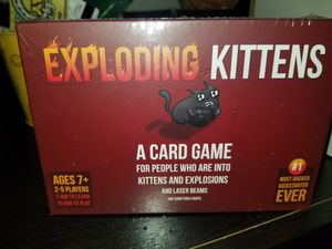 New sealed Exploding kittens card game or trade another game for Sale in Lincoln Acres, CA