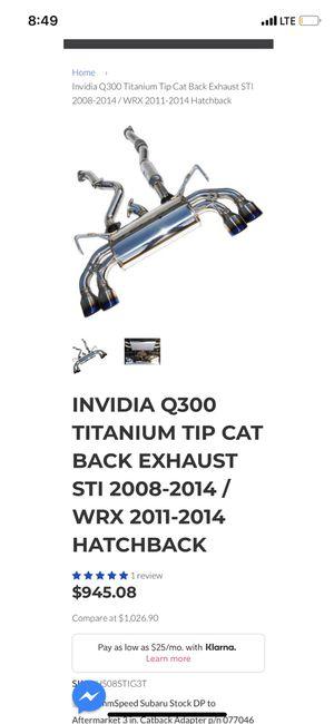 Invidia Q300 Exhaust 2008-2014 Wrx for Sale in Garden Grove, CA