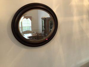 Oval dark wood mirror for Sale in Ruckersville, VA