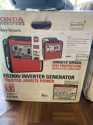 New Honda 2800 Watt Inverter Generator. EB2800i for Sale in Waltham, MA