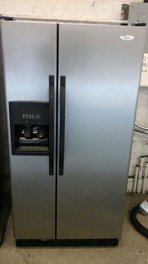 Stainless steel Whirlpool side by side refrigerator for Sale in Denver, CO