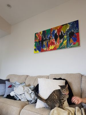 """48""""x24 canvas painting wall art abstract for Sale in Dallas, TX"""