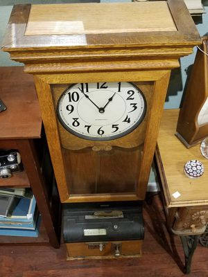 Antique International Time Recording Clock for Sale in Redwood City, CA