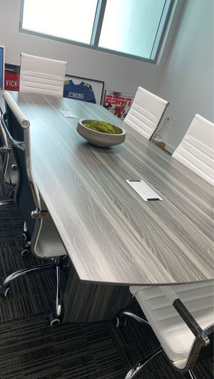 Safco 8ft. Modern Conference Table (Gray) for Sale in Florida City, FL