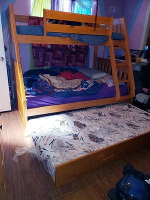 Bunk bed with trundel- serious buyers only for Sale in Wahneta, FL