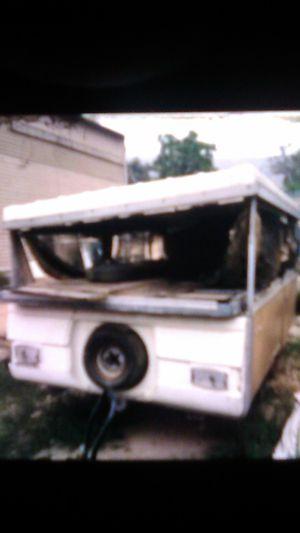 Coleman older pop up tent trailer top cut off for Sale in Riverside, CA