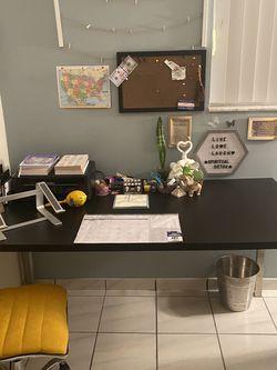 Black/Silver IKEA Table / Desk for Sale in Miami,  FL