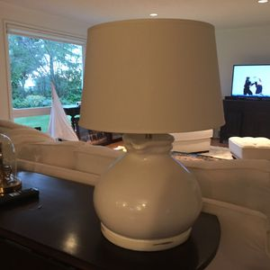 Pottery Barn ceramic lamp base and shade for Sale in Edmonds, WA