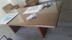 conference table with glass top for Sale in Miami, FL