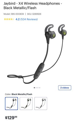 Jaybird x4 Wireless sport headphones , never used for Sale in Levittown, PA