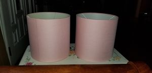 2 light pink barrel lamp shades for Sale in Pasadena, MD