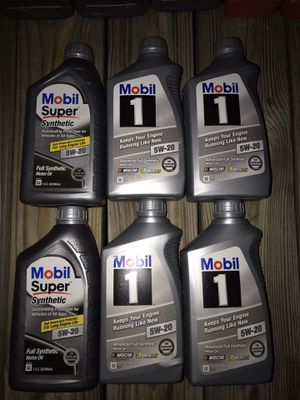 Mobil 5w20 full synthetic for Sale in Fairfax, VA