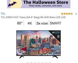 "65S513 65"" TCL UHD 4k ROKU TV for Sale in Jurupa Valley, CA"