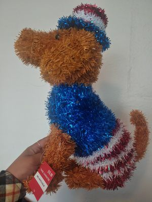 Patriotic Pup Dog Holiday Memorial Day Independence Red White Blue Home Decor for Sale in San Diego, CA
