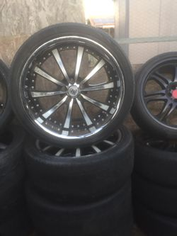 """22"""" rims 5x120 staggered for Sale in Jurupa Valley,  CA"""