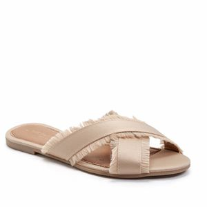 Brand New in Box Andre Assous Gorgeous Beige Satin Crisscross Slide Sandals Size 7 for Sale in West Palm Beach, FL