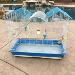 Triple Roof Bird Cage With Accessories for Sale in Orangevale, CA