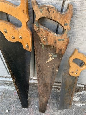 Wooden Handle Saws $5 Each! for Sale in Salem, MA