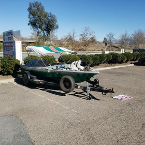 Boat And Trailer Project Motor Runs for Sale in Santee, CA