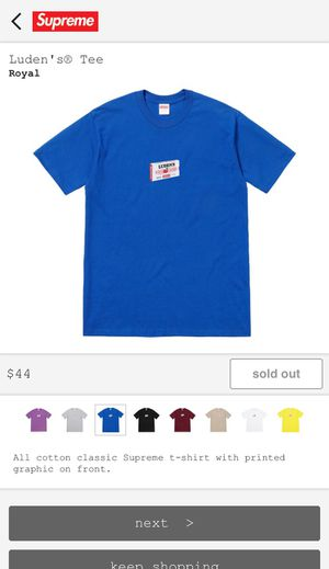 Supreme X Luden's Tee Shirt (Royal) FW18 for Sale in Cypress Gardens, FL
