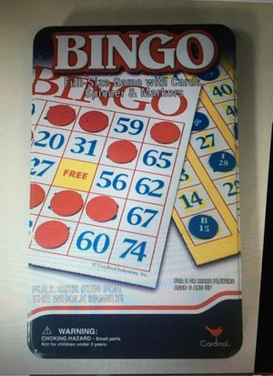 Bingo Full-Size Game with 12 Cards, Spinner, Master-board and Markers for Sale in Layton, UT
