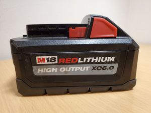 Milwaukee M18 Red Lithium High Output XC 6.0Ah Battery Pack for Sale in Fontana, CA