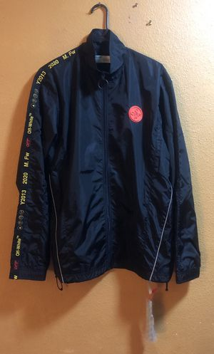 BRAND NEW‼️ OFF-WHITE Nylon Track Jacket (Men's size L) for Sale in Seattle, WA
