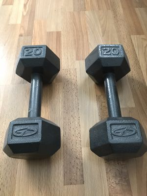 Dumbbells - two 20 pound weights - Cast Iron for Sale in Los Angeles, CA