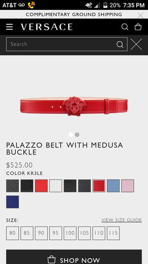 Versace Mens Red Belt for Sale in Modesto, CA