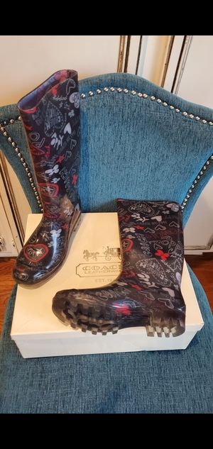 Women's Coach Rain boots sz.6 for Sale in Temecula, CA