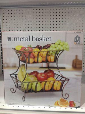 Mesa 2 Tier Metal Basket Kitchen Cesta de Fruta Cocina for Sale in Miami, FL