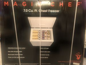 New in Box 7.0 Magic Chef Deep Freezer Chest for Sale in Queens, NY