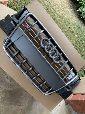 Genuine Audi S5 OEM Front Grille (Platinum Grey / Chrome Trim) - Part # 8T0853651F1RR // 2008-2012 for Sale in Benbrook, TX