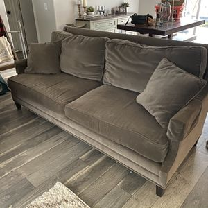 Velvet Grey Couch for Sale in Poulsbo, WA