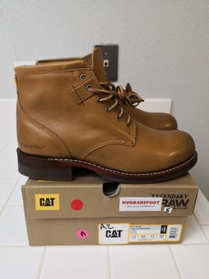 Brand new caterpillar soft toe work boots for Sale in Riverside, CA