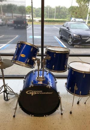 Groove percussion 7 Piece Drum Set for Sale in Palm Harbor, FL