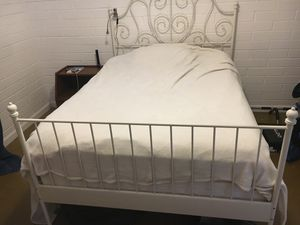 Leirvik IKEA White Bed frame & Full Sleep Number Mattress for Sale in Phoenix, AZ