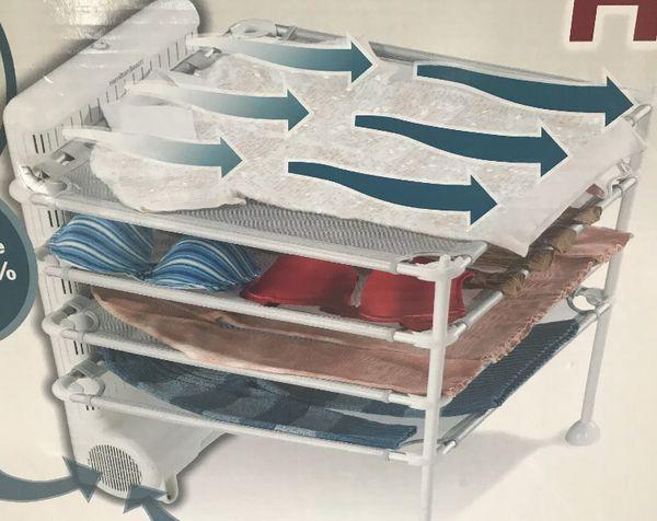 New Hamilton Beach Quick Dry 4 Shelf Garment Drying Station Model 11510