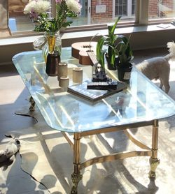 VINTAGE GLASS TOP COFFEE TABLE for Sale in Philadelphia,  PA