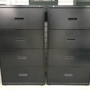 2 HON 4-Drawer Lateral File Cabinets (with Keys) for Sale in Purcellville, VA